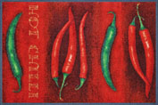 Hot Chili 50x75 cm, wash+dry